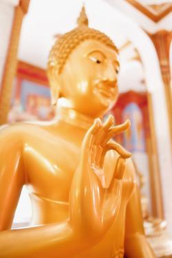 Statue, Karon Beach, Buddhist Temple, Phuket Island, Phuket, Thailand, Southeast Asia, Asia by Andrew Stewart