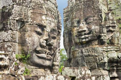 The Bayon, Angkor Thom, Angkor, UNESCO World Heritage Site, Siem Reap, Cambodia, Indochina