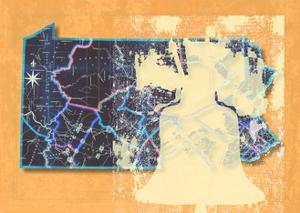 Pennsylvania Cut Out Orange by Andrew Sullivan