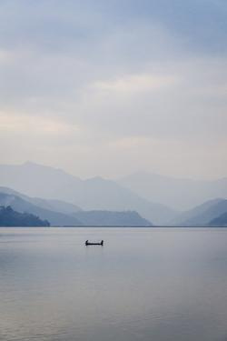 A Rowboat on Phewa Tal (Phewa Lake), Pokhara, Nepal, Asia by Andrew Taylor