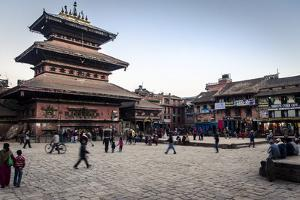 Bhairabnath Temple and Taumadhi Tole, Bhaktapur, UNESCO World Heritage Site, Nepal, Asia by Andrew Taylor