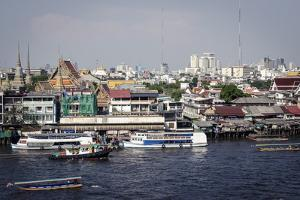 Chao Phraya River, Bangkok, Thailand, Southeast Asia, Asia by Andrew Taylor