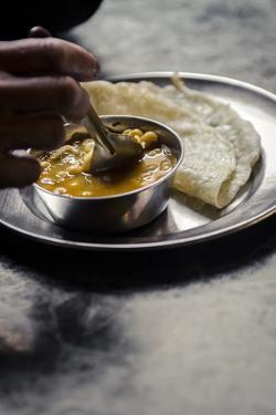 Daal and Roti, Bhaktapur, Nepal, Asdia by Andrew Taylor