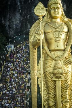 Devotees Climb the Steps to Batu Caves by Andrew Taylor