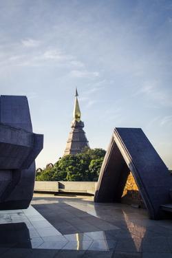 Phra Mahathat Naphamethanidon, Doi Inthanon National Park, Thailand, Southeast Asia, Asia by Andrew Taylor