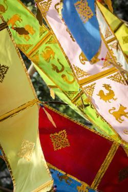 Thai New Year Decorations Blow in the Wind by Andrew Taylor
