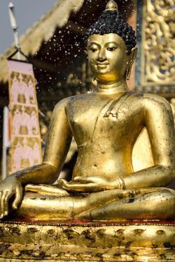 The Buddha Statue at Wat Phra Singh Is Blessed by Andrew Taylor