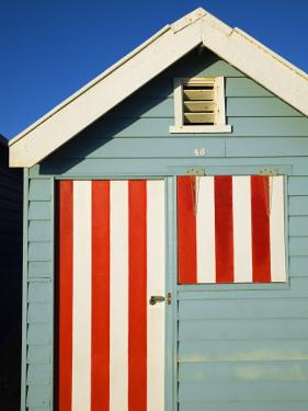 Australia, Victoria, Melbourne; Colourful Beach Hut at Brighton Beach by Andrew Watson