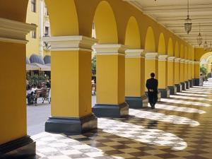 Pastel Shades and Colonial Architecture on the Plaza De Armas in Lima, Peru by Andrew Watson