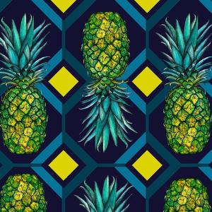 Pineapple geometric tile, 2018 by Andrew Watson