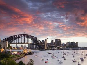 View over Lavendar Bay Toward the Habour Bridge and the Skyline of Central Sydney, Australia by Andrew Watson