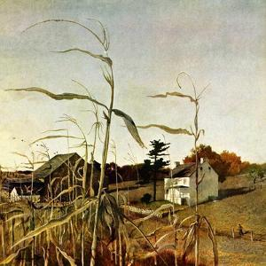 """Autumn Cornfield,""October 1, 1950 by Andrew Wyeth"
