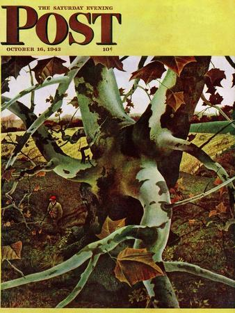 """""""Sycamore Tree and Hunter,"""" Saturday Evening Post Cover, October 16, 1943"""