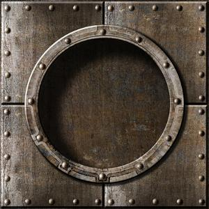 Armored Metal Porthole Background by Andrey_Kuzmin