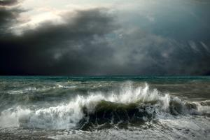View of Storm Seascape by Andrey Yurlov