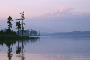 Russia Lake in Ural Mountains Autumn Evening by Andrey Zvoznikov