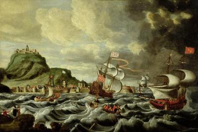 A Harbour Scene, Possibly Genoa