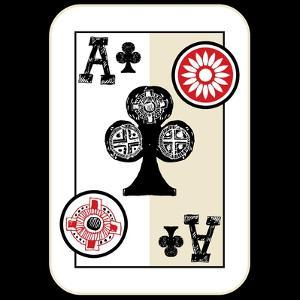 Hand Drawn Deck Of Cards, Doodle Ace Of Clubs by Andriy Zholudyev