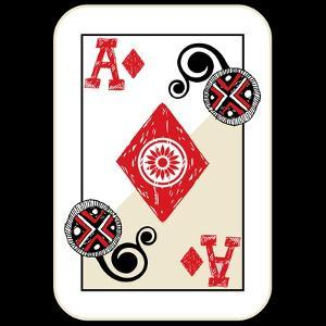Hand Drawn Deck Of Cards, Doodle Ace Of Diamonds by Andriy Zholudyev