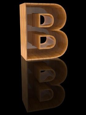 Wooden Letter B by Andriy Zholudyev