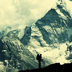 Climber in Himalayan Mountain,Ama Dablan,Nepal by Andrushko Galyna