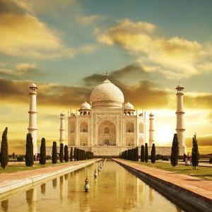 Taj Mahal Palace In India On Sunrise by Andrushko Galyna