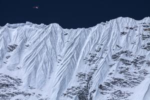 A Rescue Chopper Flies Above the Upper Khumbu Basin by Andy Bardon