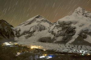 Hundreds of Climbers Converge at Base Camp on the Nepali Side of Everest by Andy Bardon