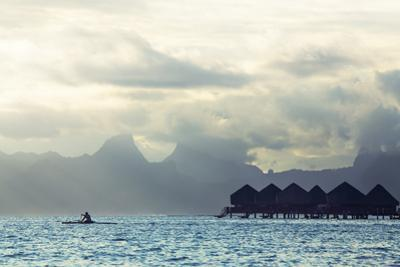 Tahiti Island, with Moorea in the Background