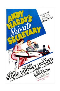 Andy Hardy's Private Secretary, Kathryn Grayson, Mickey Rooney, 1941