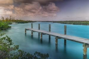 A Dock in the Marina Off of Cat Island in the Bahamas by Andy Mann