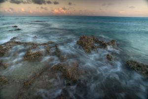 An Ocean View Off the Coast of Cat Island in the Bahamas at Sunset by Andy Mann