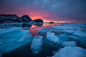 Breaking Ice at Sunrise by Andy Mann