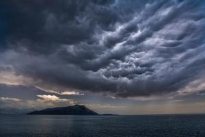 Storm Clouds Build over the Mediterranean Sea by Andy Mann