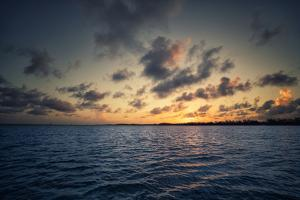 Sunset Off the Coast of Cat Island in the Bahamas by Andy Mann