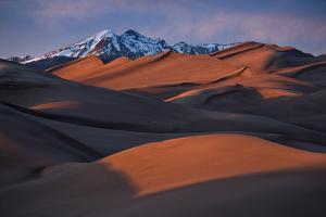 Sunset over The Great Sand Dunes National Park. by Andy Mann