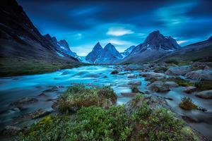 View of the Skjoldungen Range in Greenland by Andy Mann