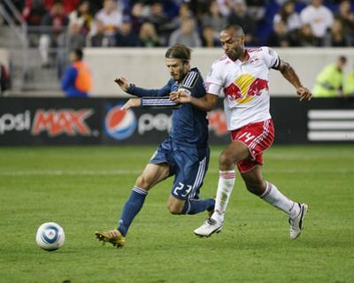 Harrison, NJ October 4 - David Beckham and Thierry Henry by Andy Marlin
