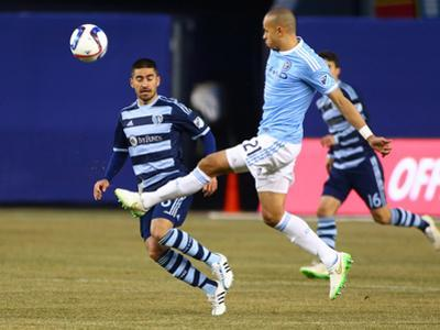 MLS: Sporting KC at New York City FC by Andy Marlin