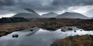 Red Hills Reflections in a Small Lochan, on the Isle of Skye, Near Sligachan by Andy Redhead