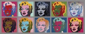 10 Marilyns, 1967 by Andy Warhol