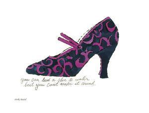 A La Recherche du Shoe Perdu, 1955 (Blue & Pink Shoe) by Andy Warhol