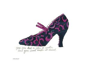 Blue and Pink Shoe, c.1955 by Andy Warhol