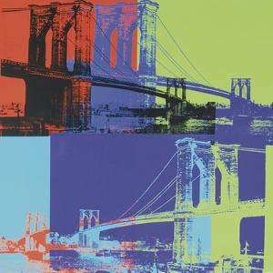 Brooklyn Bridge, c.1983 (orange, blue, lime) by Andy Warhol