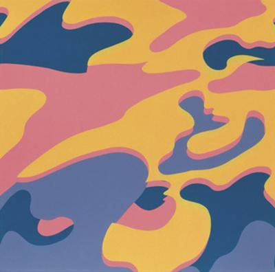 Camouflage, 1987 (pink, purple, orange) by Andy Warhol