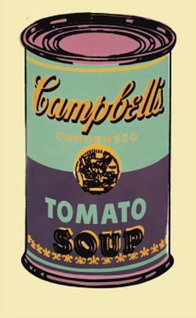 Campbell's Soup Can, 1965 (Green and Purple)