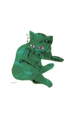 "Cat From ""25 Cats Named Sam and One Blue Pussy"", c. 1954 (Green Cat) by Andy Warhol"