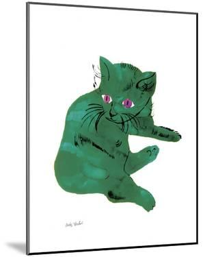 "Cat From ""25 Cats Named Sam and One Blue Pussy"" , c. 1954 (Green Cat) by Andy Warhol"