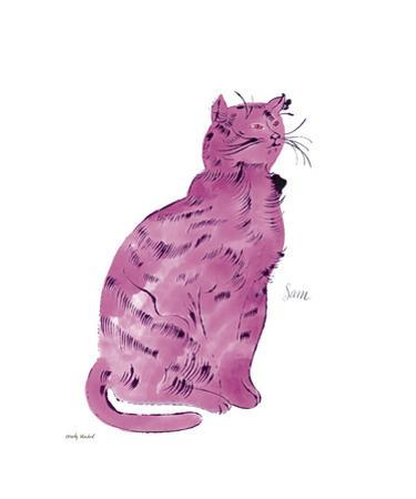 """Cat From """"25 Cats Named Sam and One Blue Pussy"""", c.1954 (Pink Sam) by Andy Warhol"""