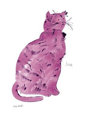 "Cat From ""25 Cats Named Sam and One Blue Pussy"", c.1954 (Pink Sam) by Andy Warhol"